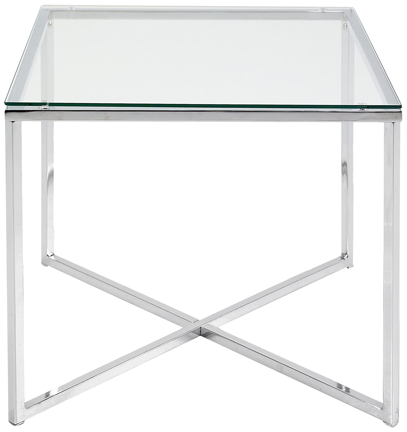 ABC Home Scandinavian Style Chrome Lamp Table, Silver ABC designs 0426862045