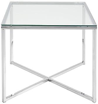 Table D Appoint Argent.Abc Home Table D Appoint Chromee De Style Scandinave Argent
