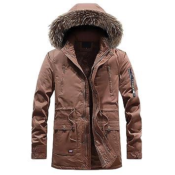 ZHRUI Chaqueta de Abrigo para Hombre, de Invierno, de Forro Polar cálido, más