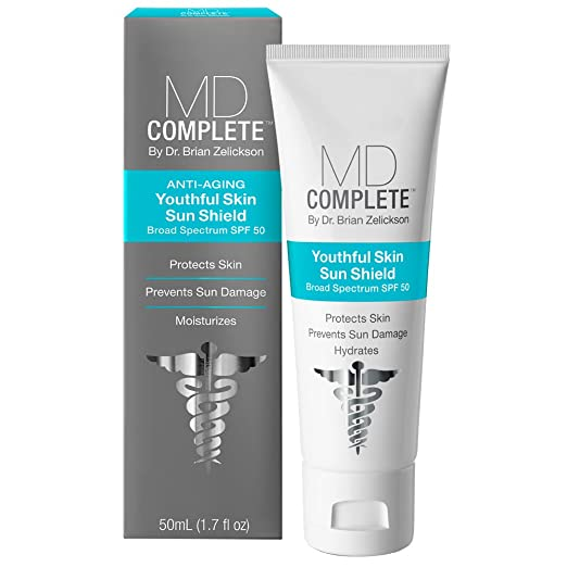 MD Complete Youthful Skin Sun Shield Sunscreen Anti-Aging by Dr. Brian Zelickson