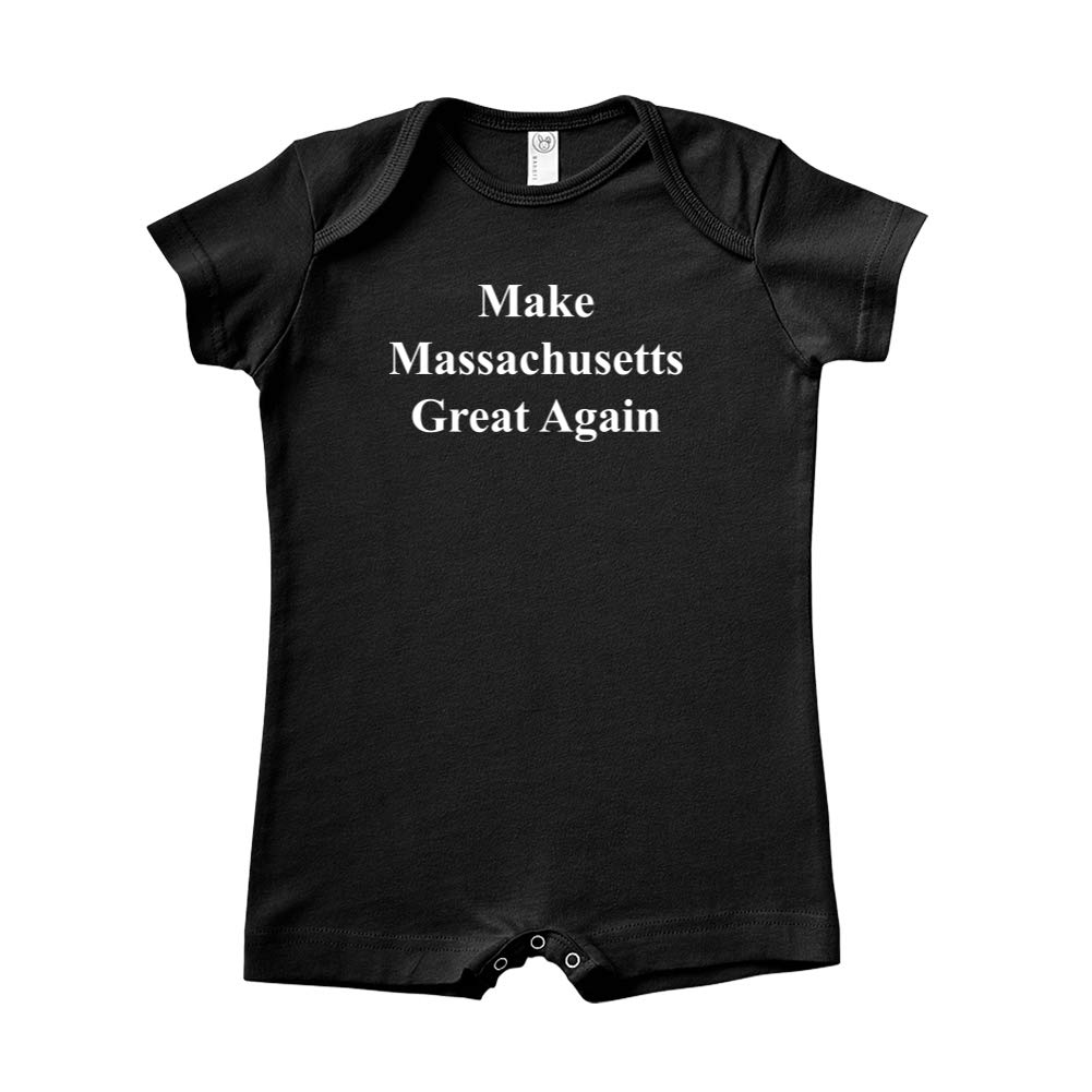 MAGA Trump Republican Baby Romper Mashed Clothing Make Massachusetts Great Again