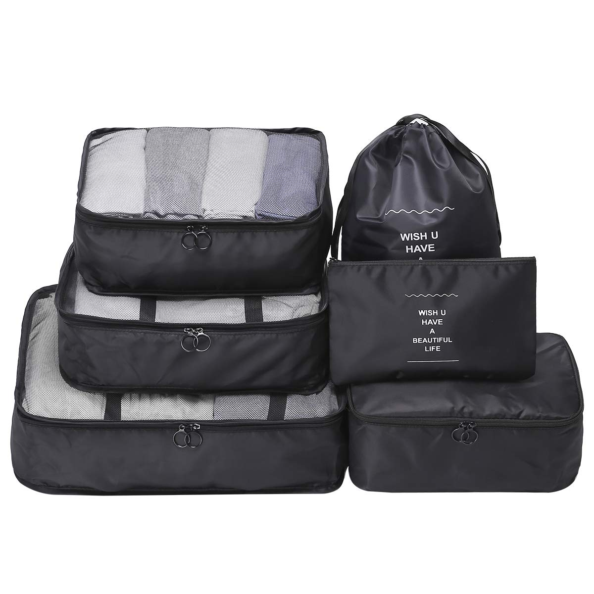 OEE 6 pcs Luggage Packing Organizers Packing Cubes Set for Travel by OEE