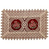 Simhomsen Set of 4 Burgundy Lace Table Placemat Rectangular 12 By 18 Inch