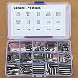 304 Stainless Steel Ø1.5 Ø2 Ø2.5 Ø3 Ø4 Ø5 Ø6mm Dowel Pin Rod Assortment Kit STW