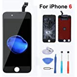 For iPhone 6 液晶LCD交換 フロントパネル(タッチパネル) 、高品質【 iPhone修理/ フロントパネル/ 修理キット】、 液晶パネルセット、 修理工具付き 、ブラック 、[並行輸入品]