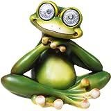 Rana con ojos Solar Figura solar Farolillo solar jardín jardín Figura Frog