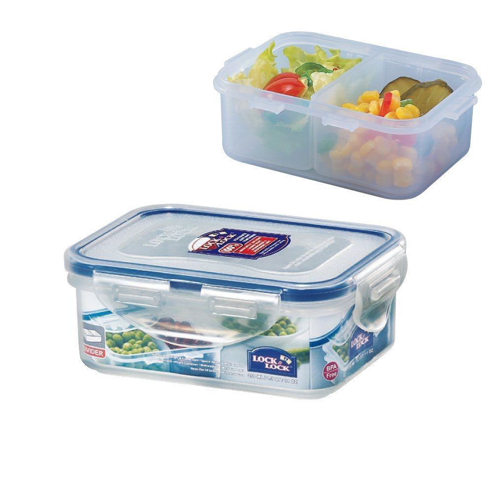 Amazon.com: LOCK U0026 LOCK Airtight Food Storage Container With Removable  Divider 11.83 Oz / 1.48 Cup: Food Savers: Kitchen U0026 Dining