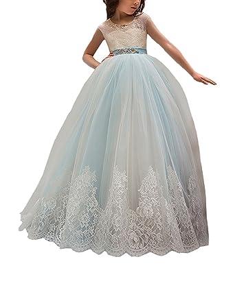 Amazon.com: Gemila Girls Flower Princess Toddler Tulle Pegeant Prom Dress: Clothing