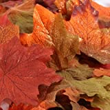 Factory Direct Craft Autumn Splendour Artificial Maple Leaves Accented with Copper Glitter for Fall Decorating