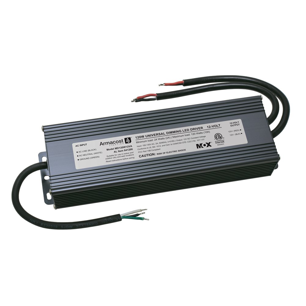 Armacost Lighting 841200 120-Watt Dimming Led Driver 12-Volt Dc Power Supply, Gray