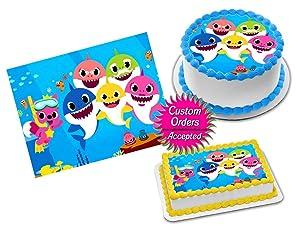 "Baby Shark Edible Image Icing Frosting Sheet #1 Cake Cupcake Cookie Topper Sugar Sheet (8"" Round)"