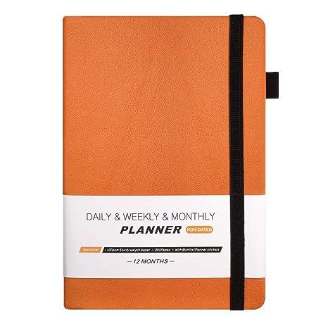 Amazon.com: Agenda de agenda de día 2019 semanal sin fecha ...
