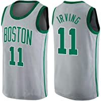 runvian Camiseta de Baloncesto para Hombre, NBA Boston Celtics 11# Kyrie Irving Bordado Transpirable y Resistente al Desgaste Camiseta para Fan