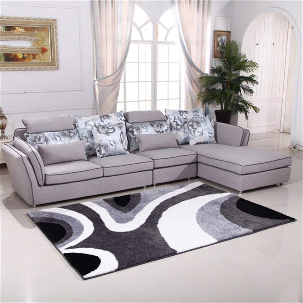 Daicushengmao シンプルモダン肥厚リビングルームのコーヒーテーブルソファ広い寝室ベッドサイド エリアラグ (サイズ : 120 Cm X 170 Cm) B07SY86W6B  120 Cm X 170 Cm