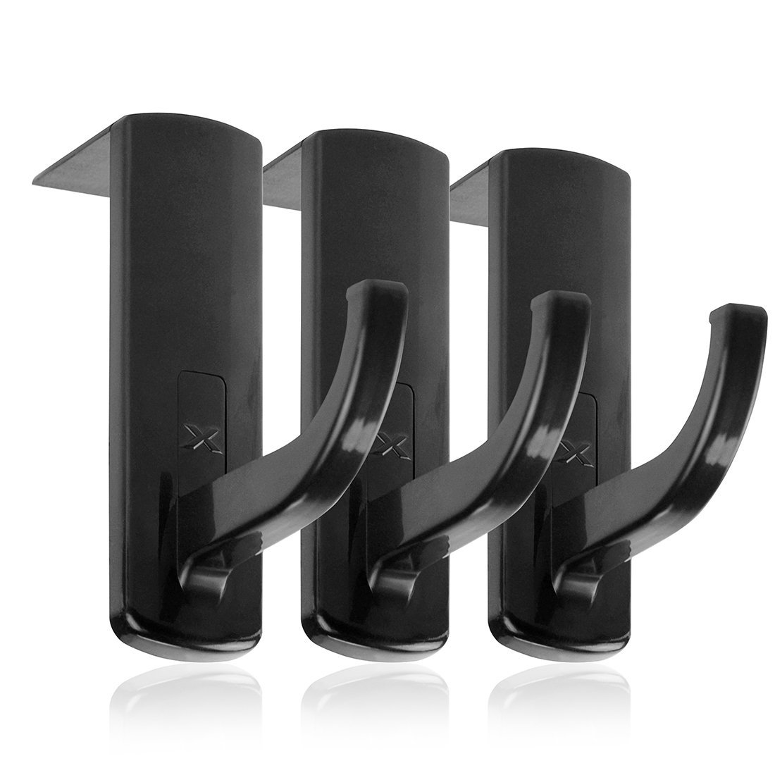 Headphones Monitor Mount Hanger / Monitor Clamp Headphone Holder / Headset Stick-on Hook (Black) Geekria PJZ-0022-01