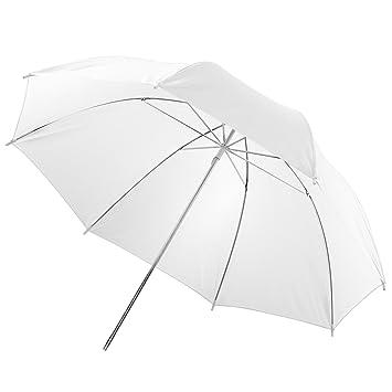Walimex 12132 - Paraguas transparente (para luz suave), color blanco