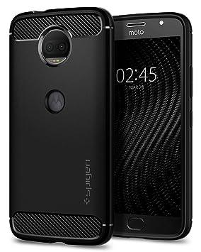 c0ba14610b4 spigen Funda Lenovo Moto G5S Plus, Carcasa [Rugged Armor] Absorción de  Choque Resistente y diseño de Fibra de Carbono para Lenovo Moto G5S Plus  [Negro]: ...