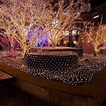 LeMorcy LED Net Lights, 6.6ft*9.8ft 210 LED 8 Modes Waterproof Twinkle Net Mesh Fairy String Lights for Garden, Lawn, Patio, Wall, Tree, Wedding, Party, Indoor, Outdoor Decoration
