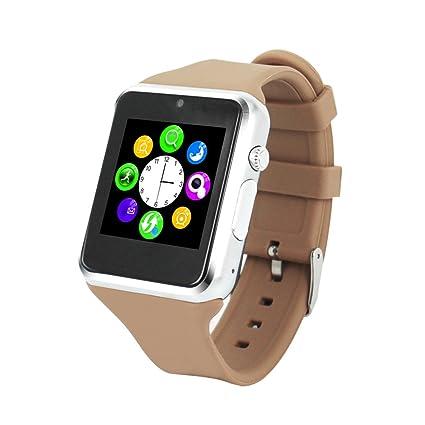 Vktech-ZGPAX S79 360MHZ Reloj Inteligente Bluetooth Sincorización Teléfono-Plata+Café