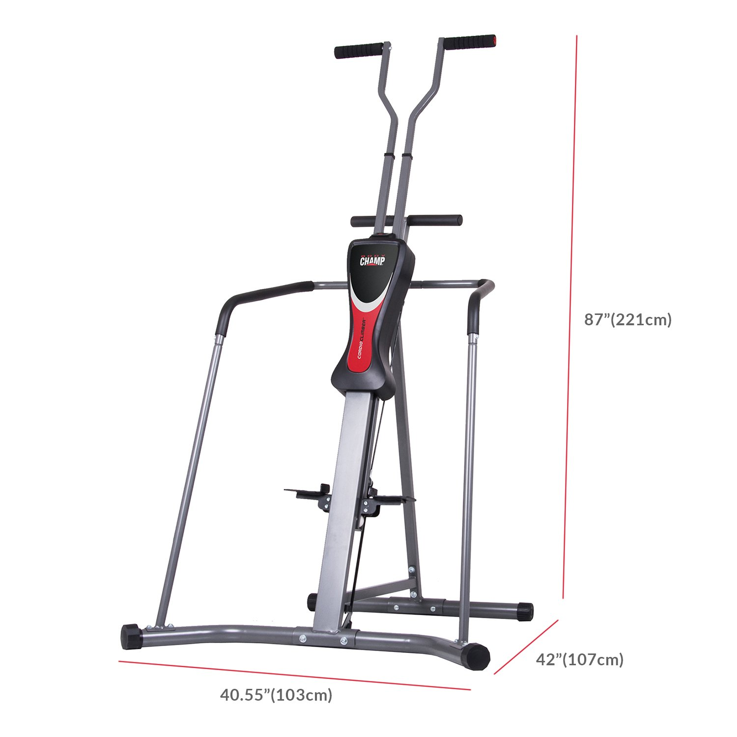 Body Champ Leisa Hart Cardio Vertical Stepper Climber / Includes Assembly Video, Meal Plan Guide, Workout Video access BCR890 by Body Champ (Image #2)