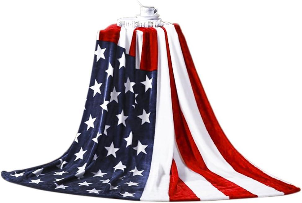 Manta polar suave y calidad, diseño de bandera de Estados Unidos, Gran Bretaña, sofá, cama, adulto