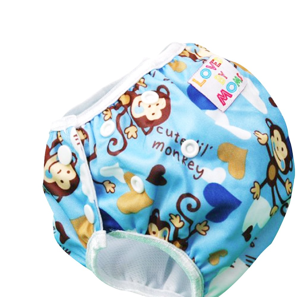 Baby Swim Diapers, One Size Reuseable Washable Adjustable Short Waterproof Trunks Unisex Swimming Cover for (7-34lbs) Babies & Toddlers Infant 0-36 Months Boys & Girls robinlu Baby Swim Diapers