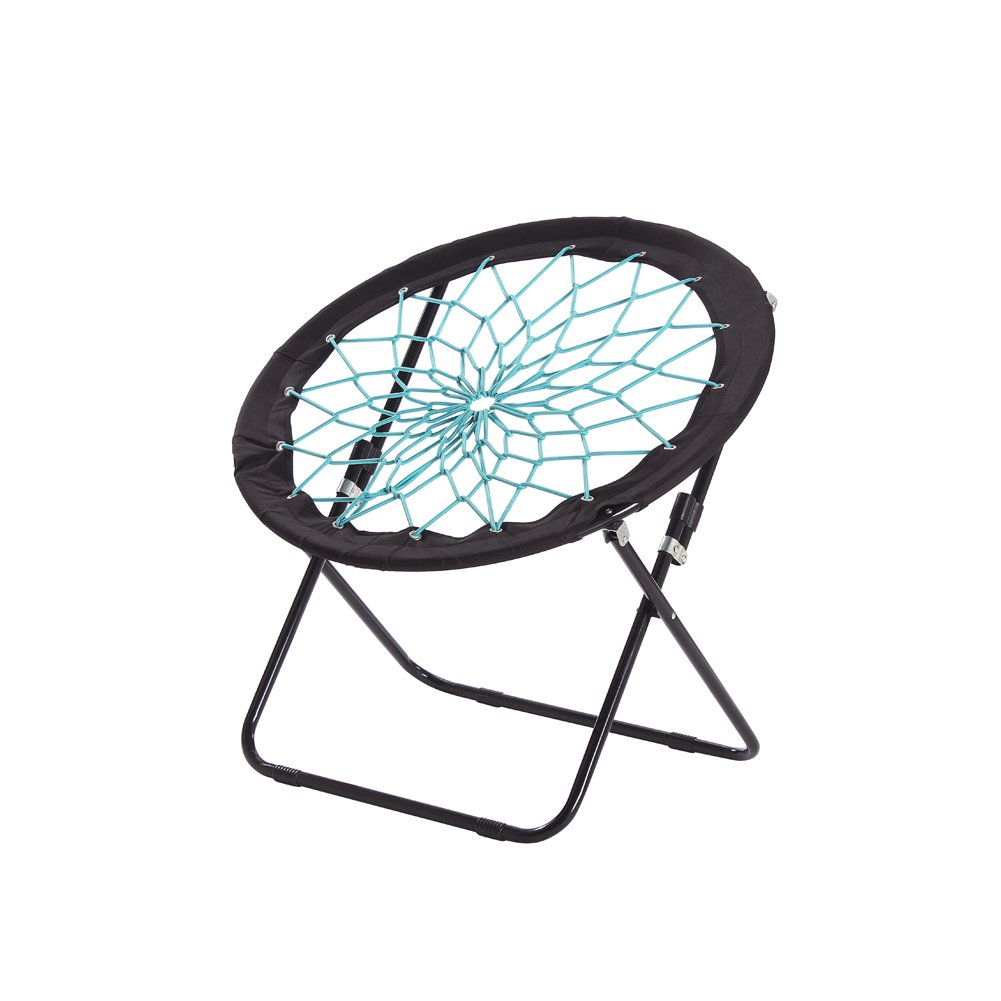 CampLand Bunjo Bungee Dish Chair Folding Camping Relax Chair by CampLand