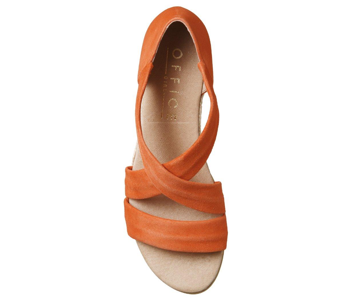 Unbekannt Damen Damen Unbekannt Hallie Espadrilles Orange Suede f5f186
