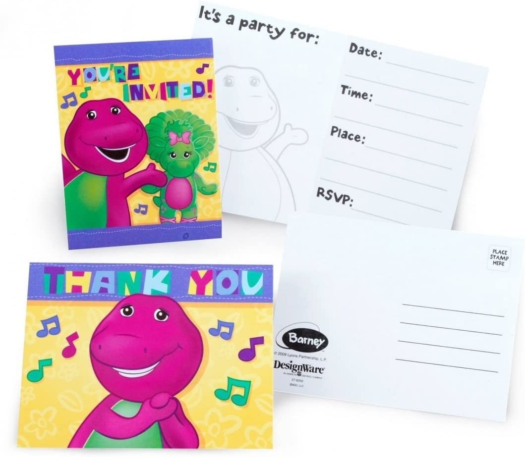 Fisher Price Little People Birthday Party Supplies Invitations w//Envelopes 8 ct.