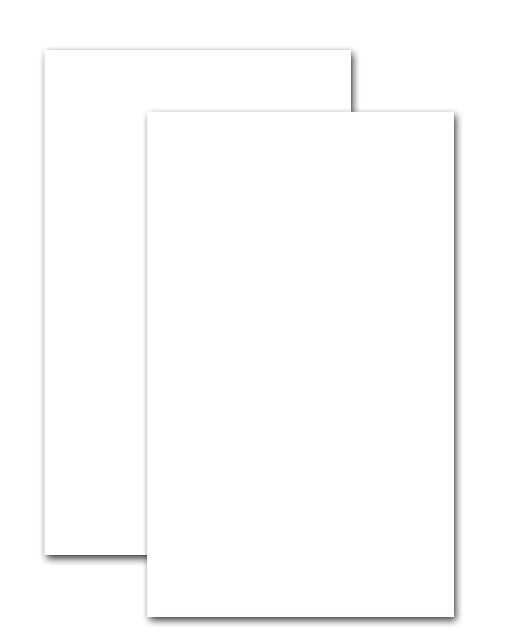 Premium Natural Card Stock 100# Cover (270 gsm) - Heavyweight 8.5'' x 14'' inches - Pack of 50 Sheets - Office Crafts and More.