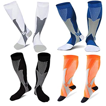 851c54a7a2 2/4 Pairs Compression Socks, 20-30 mmHg Medical&Althetic Nursing Running  Compression Socks