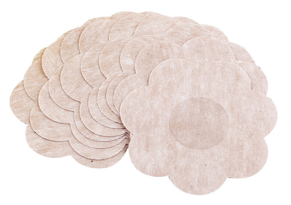 Butterme 15 Paare Flower Adhesive Damen No Show Wegwerfbrustblumenblatt Pastete Nippel Abdeckungs Pad Patches ZT00186H(15)