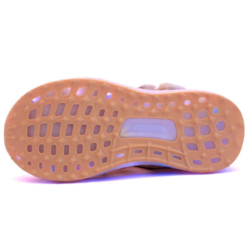 edv0d2v266 Kids Boys Girls USB Children LED Sandle Shoes with Light Glowing Luminous Sneakers(Gold 11.5 M US Little Kid) by edv0d2v266 (Image #4)
