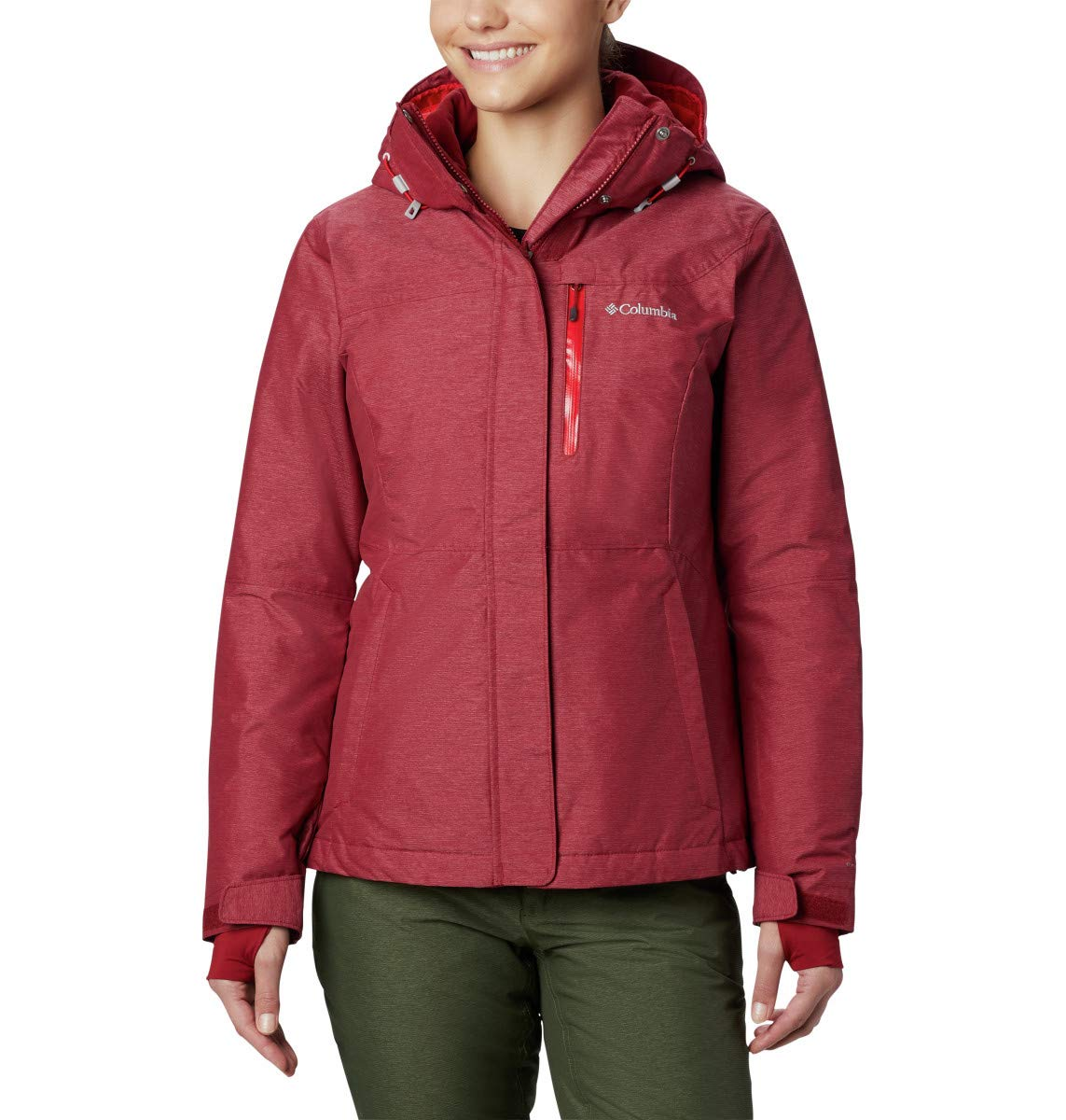 Rot (Beet) XS Columbia Damen Alpine Action Oh' Ski Jacket