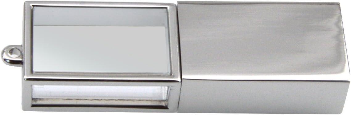 Memory Stick Pink USB 2.0 Thumb Drive Silver Frame Pen Drive Waterproof Jump Drive Fold Data Storage with Key Ring Design Uflatek 16 GB USB Flash Drive