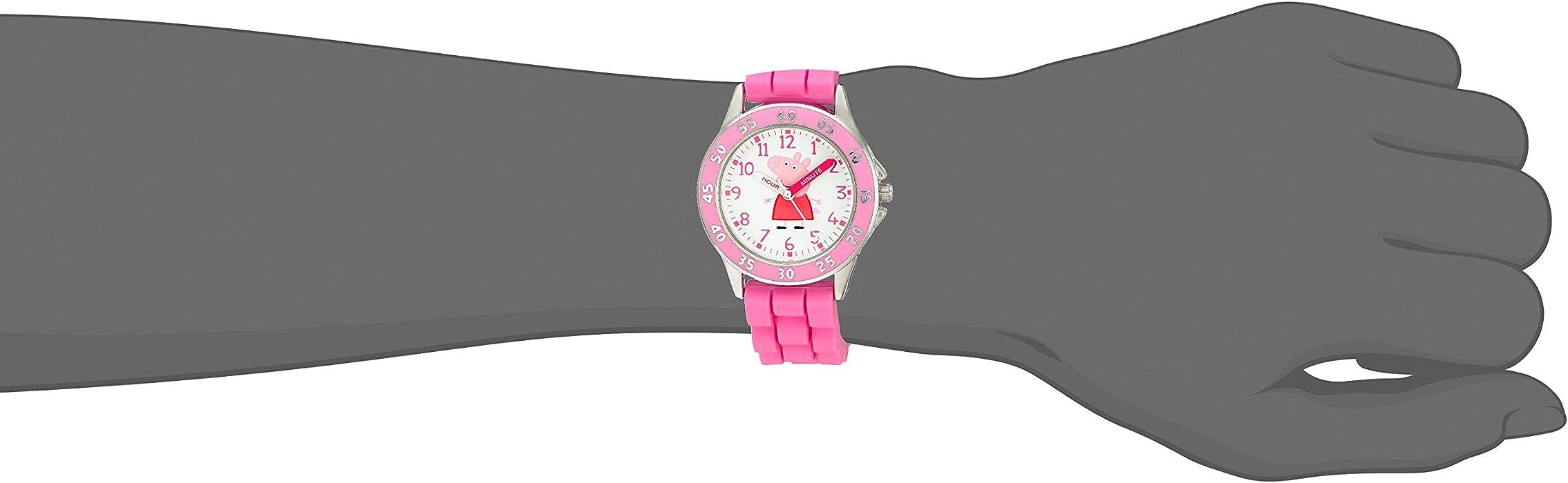 Kids PPG9000 Analog Display Japanese Quartz Pink Watch. Peppa Pig ...