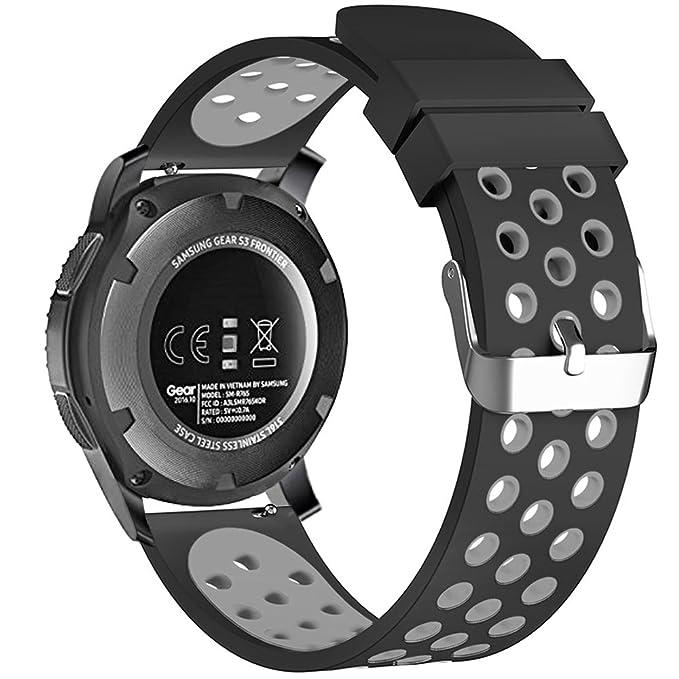 FanTEK Bracelet universel pour montre connectée 22 mm 20 mm 18 mm: Amazon.fr: High-tech