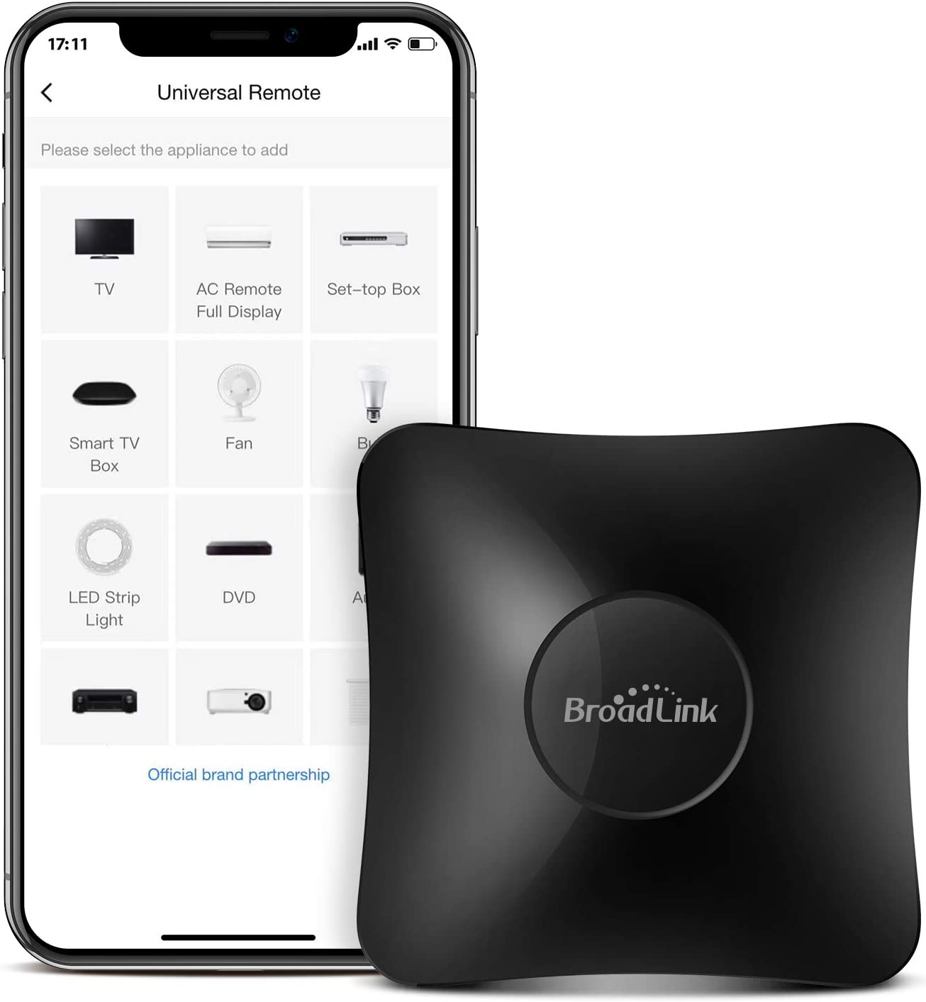 BroadLink IR/RF Smart Home Hub-WiFi IR/RF Blaster for Home Automation, TV, Curtain, Shades Remote, Smart AC Controller, Works with Alexa, Google Assistant, IFTTT (RM4 pro) - -