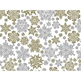 Metallic Frozen Flakes 30'' x 150' Gift Wrap Roll