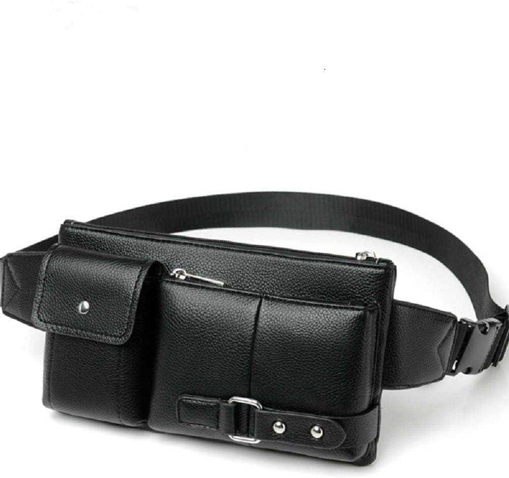 DFV mobile - Bolso de Piel Bandolera Riñonera para Ebook, Tablet y para XIAOMI MI 5C - Negra