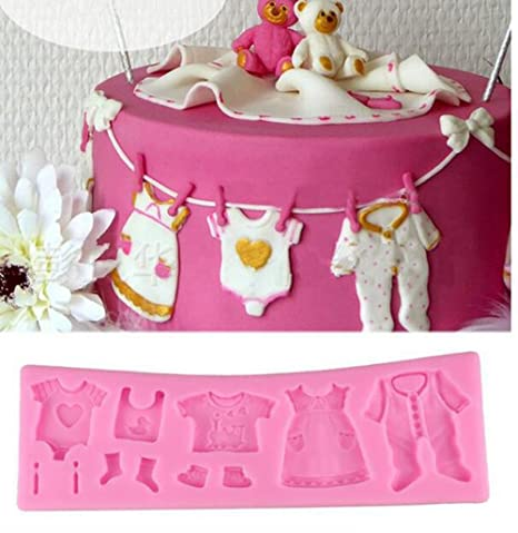 Cooplay - Molde de silicona con encaje para bebé, para fondant, ropa de bebé