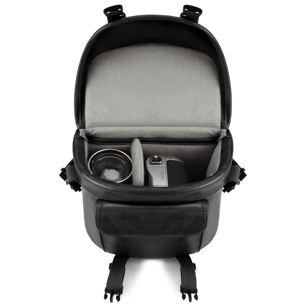 Panasonic Lumix DMC G80 GX8 G7 Canon EOS 200D 1300D CAISON Bandolera Funda Estuche Bolsa para C/ámara Canon EOS M6 M5 M3 M10 Single Lens DSLR Camera Nikon D7500 D5600 D3400