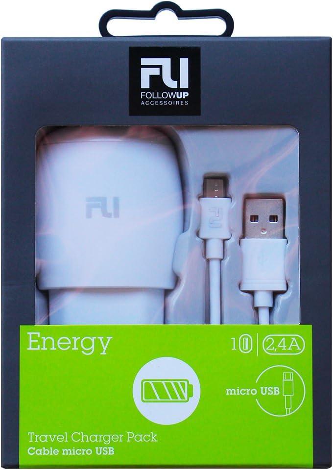 Followup – Cargador Potencia 2,4 A salida micro USB con cable incluido – blanco: Amazon.es: Electrónica