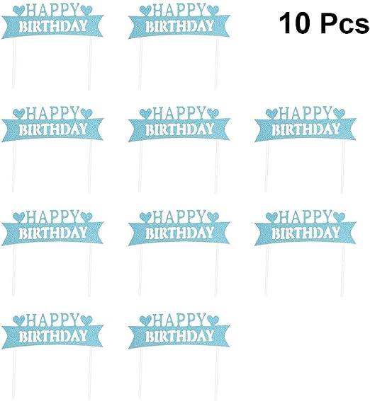 Amosfun Primeros de la Torta Recoge Feliz cumpleaños selecciones ...
