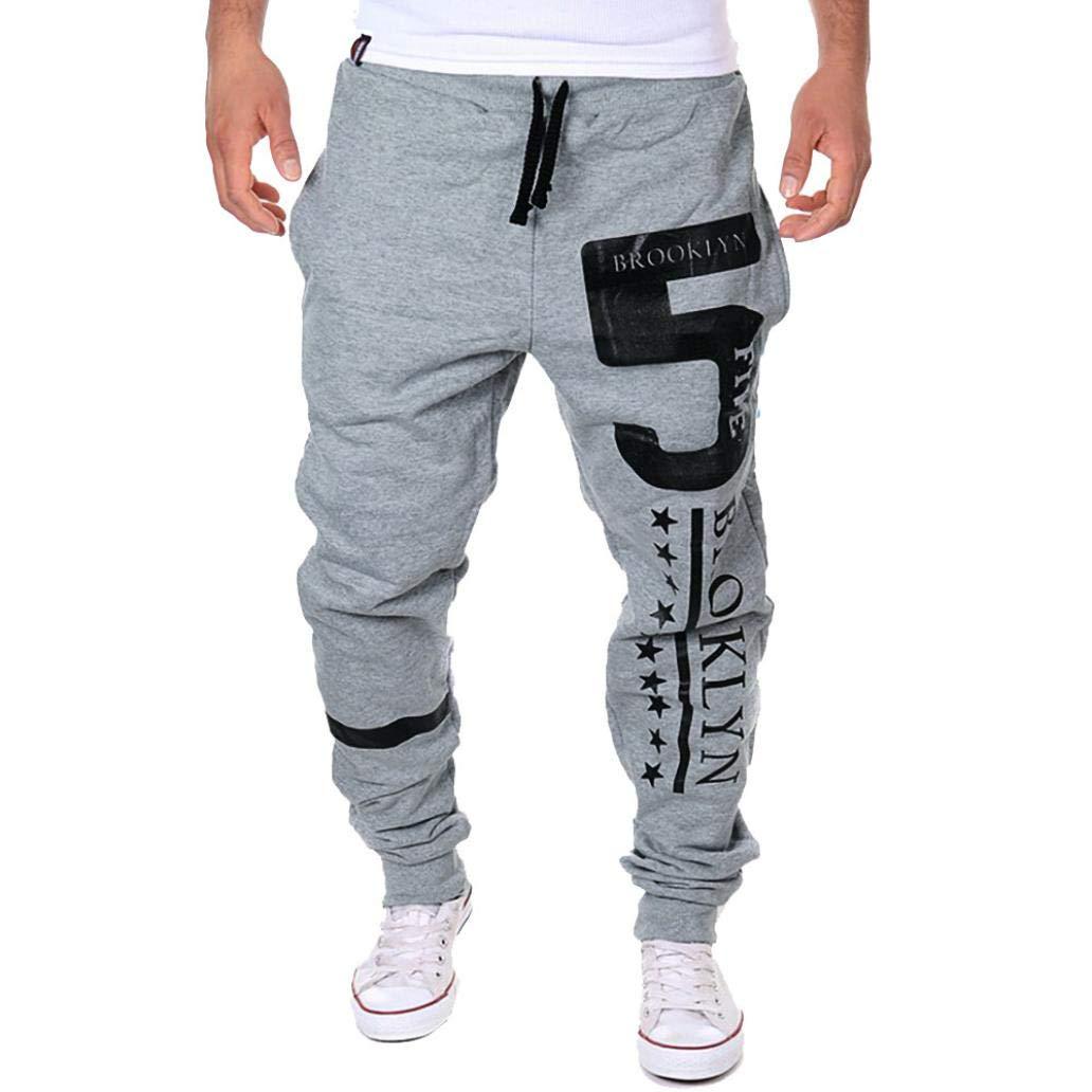 WUAI PANTS メンズ US Size XL = Tag 2XL グレー B07GQ462VF