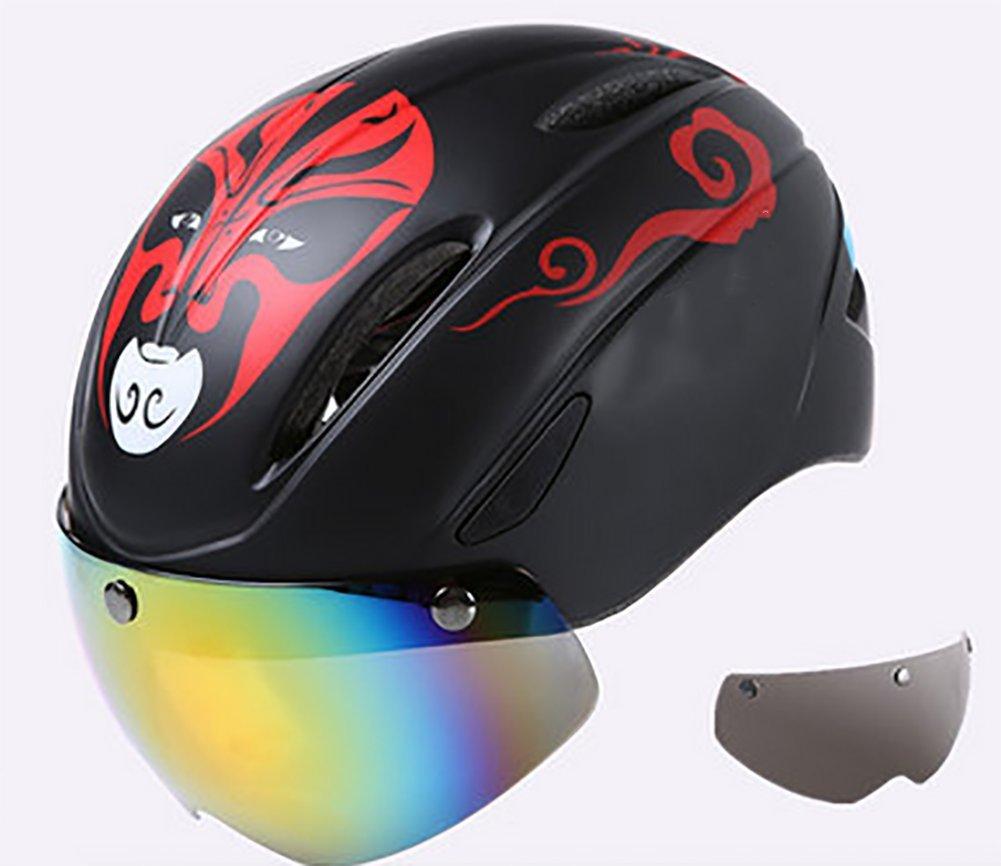 Fahrradhelm Schutzbrille Leichtgewicht Mountainbike Schutzhelm Lang Radfahren Bequem Atmungsaktiv (Unisex, Mehrere Stile)