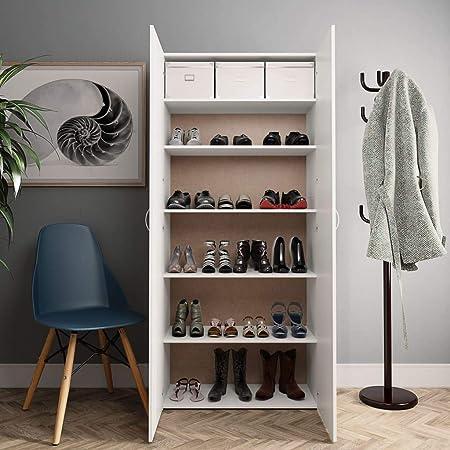 Meuble à Chaussures Blanc Armoire D'entrée à Garde robe