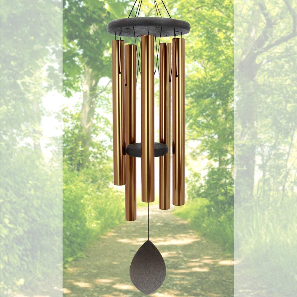 "ASTARIN Wind Chimes Deep Tone Outdoor,36"" Large Windchime with 5 Metal Tubes,Memorial Wind Chimes Large for Garden Home Hanging Decor,Sympathy Gifts"