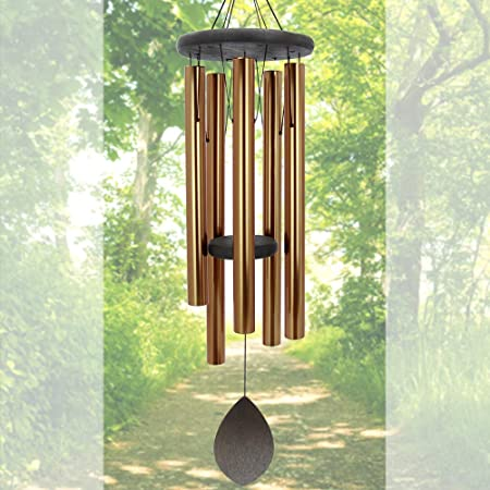 """Wind Chimes Outdoor Deep Tone Large,36""""Wind Chimes Amazing Grace with 5 Heavy"""