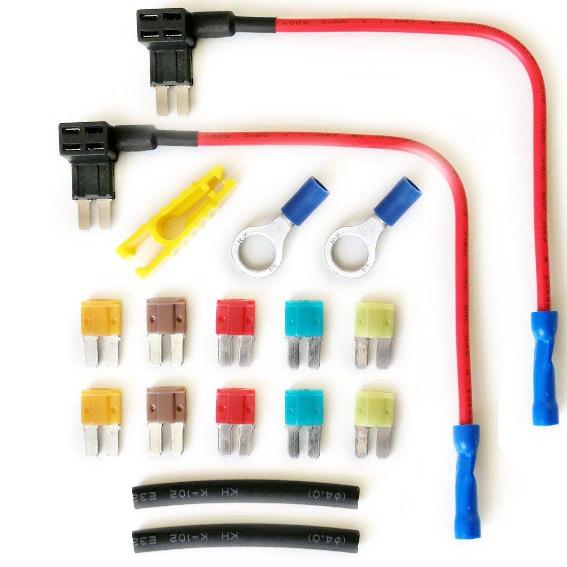 add-a-circuit Sicherung Tap in Schweinchenform Sicherungshalter 12/24 V (2 x micro2 Klinge) PRC
